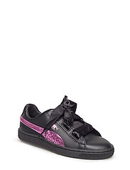 Basket Heart Bling Jr - PUMA BLACK-ORCHID
