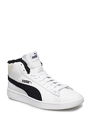 Puma Smash v2 Mid L Fur Jr - PUMA WHITE-PUMA BLACK