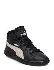 Puma Smash v2 Mid L Fur V PS - PUMA BLACK-WHISPER WHITE