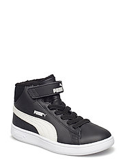 Puma Smash v2 Mid L Fur V PS - PUMA BLACK-PUMA WHITE