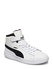 Puma Smash v2 Mid L Fur V PS - PUMA WHITE-PUMA BLACK