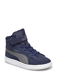 Puma Smash v2 Mid Fur V Inf - PEACOAT-IRON GATE