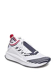 TSUGI Jun Sport Stripes - PUMA WHITE-PEACOAT-RIBBON RED