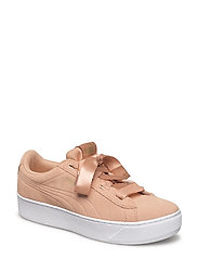 Puma Vikky Platform Ribbon Jr - DUSTY CORAL-PUMA TEAM GOLD