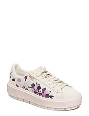 Suede Platform Trace Flowery - WHISPER WHITE-MAUVE MORN-ROSE GOLD