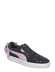 Suede Bow Dots Jr - PUMA BLACK-WINSOME ORCHID-PUMA SILVER