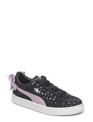 Suede Bow Dots AC PS - PUMA BLACK-WINSOME ORCHID-PUMA SILV