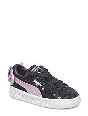 Suede Bow Dots AC INF - PUMA BLACK-WINSOME ORCHID-PUMA SILVER