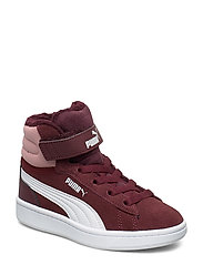 Puma Vikky v2 Mid Fur V PS - VINEYARD WINE-BRIDAL ROSE-PUMA WHITE