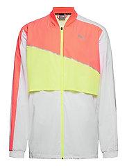 Run Lite Woven Ultra Jacket - PUMA WHITE-NRGY PEACH-FIZZY YELLOW