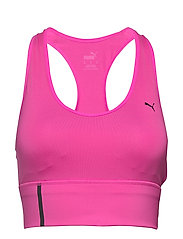 Mid Impact Long Line Bra - LUMINOUS PINK