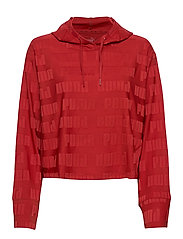 Train First Mile Mono Hoodie - RED DAHLIA