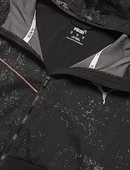 PUMA - RUN GRAPHIC HOODED JACKET M - sportsjakker - puma black - 3
