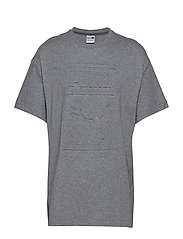 Archive Embossed Print Tee - MEDIUM GRAY HEATHER