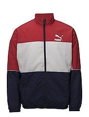 Retro Woven Track Jacket - PEACOAT