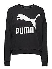 Classics Logo Crew - PUMA BLACK-WHITE