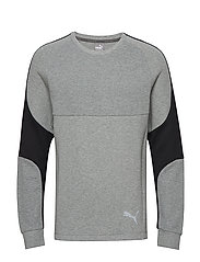 Evostripe Crew - MEDIUM GRAY HEATHER