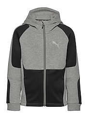 Evostripe Full-Zip Hoodie B - MEDIUM GRAY HEATHER