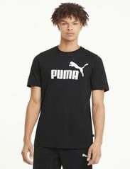 PUMA - ESS Logo Tee - t-shirts - puma black - 0
