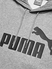 PUMA - ESS Big Logo Hoodie FL - huvtröjor - medium gray heather - 2