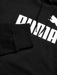 PUMA - ESS+ Cropped Metallic Logo Hoodie TR - hættetrøjer - puma black-silver - 3