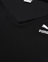 PUMA - Classics Ribbed Longsleeve Cropped Top - crop tops - puma black - 4