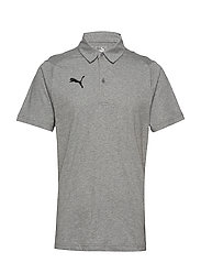 LIGA Casuals Polo - MEDIUM GRAY HEATHER-PUMA BLACK