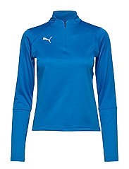 LIGA Training 1/4 Zip Top W - ELECTRIC BLUE LEMONADE-PUMA WHITE