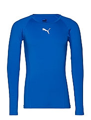 LIGA Baselayer Tee LS - ELECTRIC BLUE LEMONADE