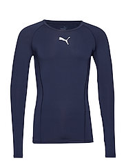 LIGA Baselayer Tee LS - PEACOAT