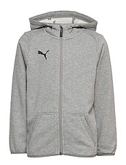 LIGA Casuals Hoody Jacket Jr - MEDIUM GRAY HEATHER-PUMA BLACK