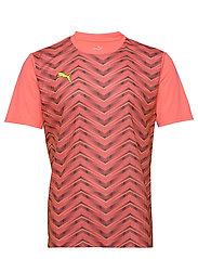 ftblNXT Graphic Shirt Core - NRGY PEACH-FIZZY YELLOW