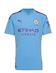 MCFC HOME Shirt Replica SS with  Sponsor Logo - TEAM LIGHT BLUE-TILLANDSIA PURPLE