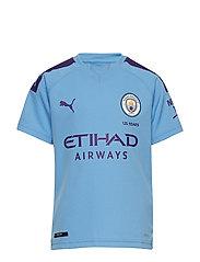 MCFC HOME Shirt Replica SS Jr with Sponsor Logo - TEAM LIGHT BLUE-TILLANDSIA PURPLE