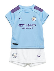 MCFC HOME BABY-Kit with Sponsor Logo, SOCKS & HANGER - TEAM LIGHT BLUE-TILLANDSIA PURPLE