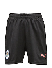 MCFC Shorts Replica Jr - PUMA BLACK-GEORGIA PEACH