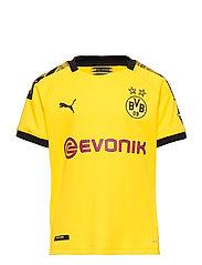 BVB Home Shirt Replica Jr with Evonik Logo with OPEL Logo - CYBER YELLOW-PUMA BLACK