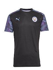 MCFC Training Jersey - PUMA BLACK-TEAM LIGHT BLUE