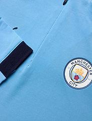 PUMA - MCFC 1/4 Zip Top Jr - sweatshirts - team light blue-peacoat - 2