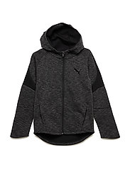 Evostripe FZ Hoody B - COTTON BLACK