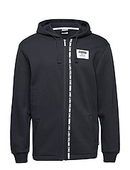 Rebel Block FZ Hoody FL - COTTON BLACK
