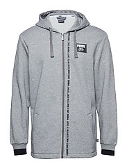 Rebel Block FZ Hoody FL - MEDIUM GRAY HEATHER