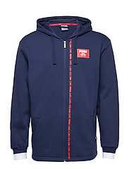 Rebel Block FZ Hoody FL - PEACOAT