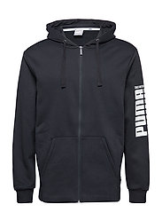 Rebel Bold FZ Hoody FL - COTTON BLACK