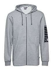 Rebel Bold FZ Hoody FL - MEDIUM GRAY HEATHER