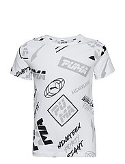 Alpha Graphic AOP Tee B - PUMA WHITE