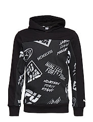 Alpha AOP Hoody B - COTTON BLACK