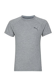 Evostripe Tee B - MEDIUM GRAY HEATHER