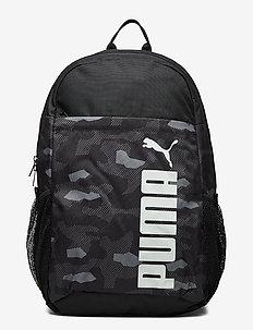 PUMA Style Backpack - torby treningowe - puma black-camo aop