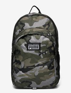 PUMA Academy Backpack - treniruočių krepšiai - forest night-camo aop